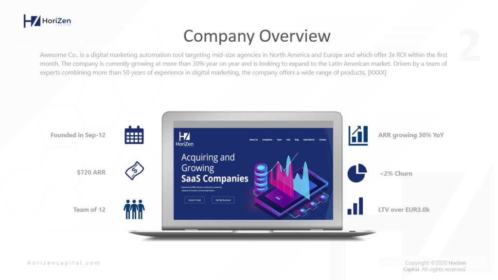 Startup Pitch Deck Company Overview