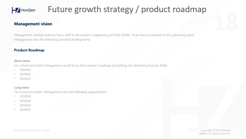 Startup Pitch Deck - Future Growth Strategy and Product Roadmap