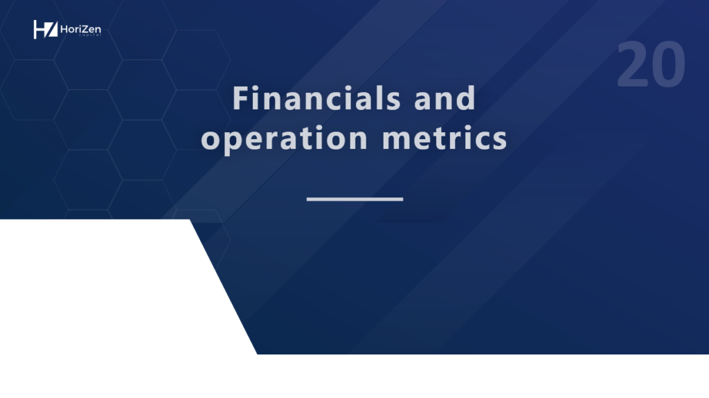 Startup Pitch Deck - Financials and Operation Metrics