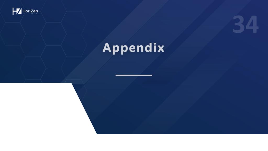 Startup Pitch Deck - Appendix