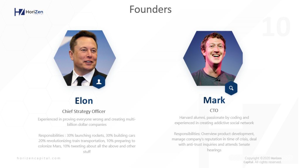 Startup Pitch Deck - Founders Background