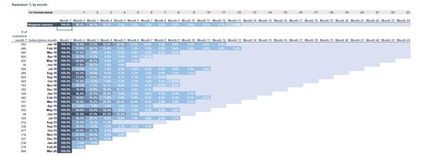 Startup Pitch Deck - Cohort Analysis