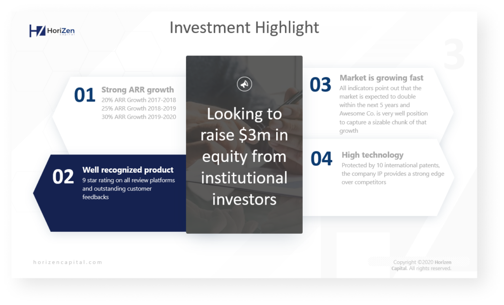 Investment highlight