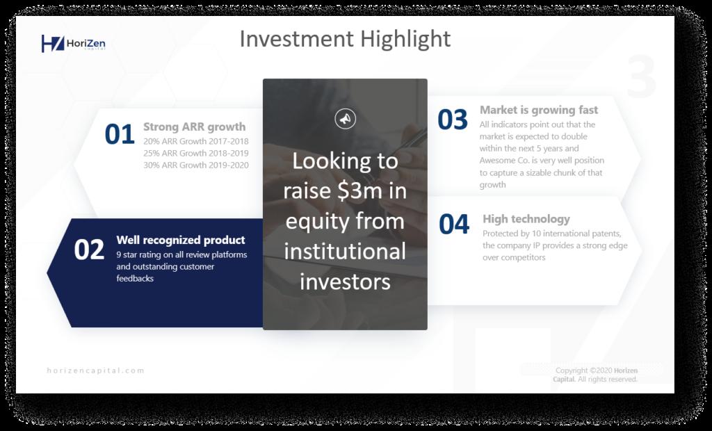 Investment highlight